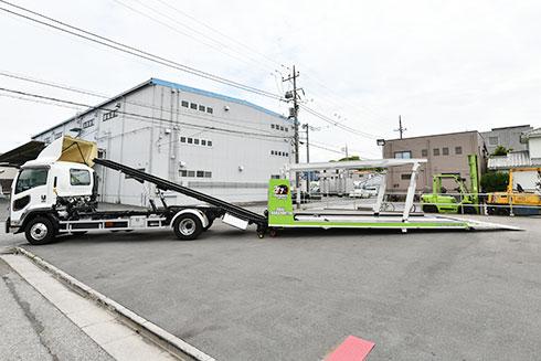 フルフラット2台積み積載車